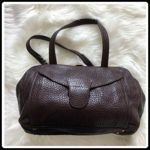 Prada burgandy doctor's leather bag